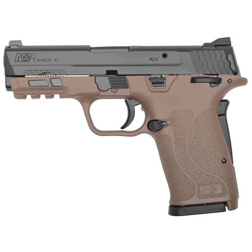 """Smith & Wesson M&P Shield EZ 2.0 9mm, 3.675"""" Barrel, FDE Frame, Black Slide"""