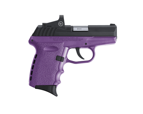 "SCCY Industries CPX-2 RD 9mm, 3.10"" Barrel, 10rd, Purple Frame, W/Crimson Trace Red Dot"