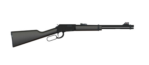 "Rossi RL22, Lever Action, 22 LR, 18"" Barrel, Blued, Synthetic Stock, Adjustable Sights, 15Rd"