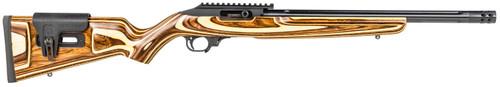 """Ruger 10/22 Carbine 22 LR, 16.12"""" Barrel, Adjustable Comb Stock, Brown"""