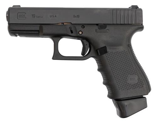 """Glock 19 Gen4 USA 9mm, 4"""" Barrel, Lumin Sights, Black, 15rd"""