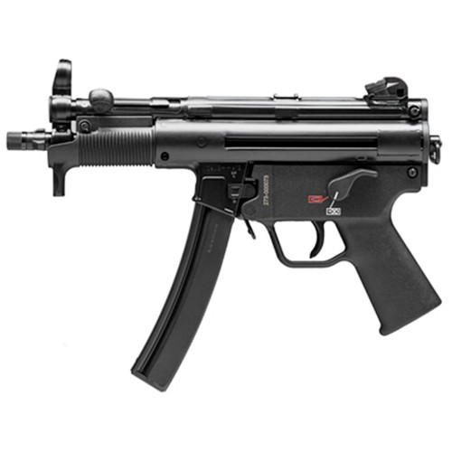 """HK SP5K-PDW, Semi-automatic, 9mm, 5.83"""" Barrel, Black, Poly Grip, 30 Round, 2 Mags, Threaded Barrel, Ambidextrous Safety"""