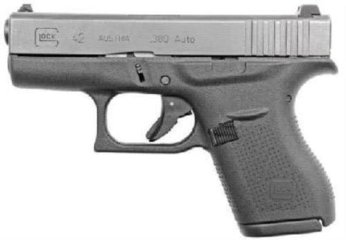 """Glock G42 380 ACP 3.25"""" Barrel, Black, 6rd, NO FACTORY BOX"""