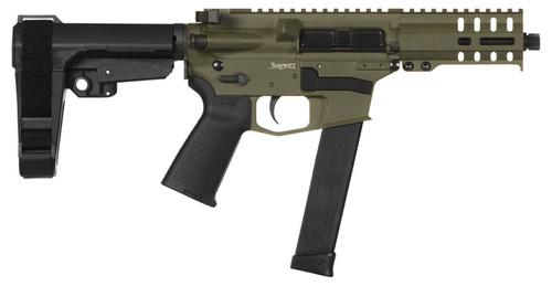 "CMMG Banshee 300, 9mm, 5"" Barrel, Noveske Bazooka Green, 33rd Glock Mag"