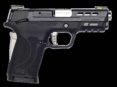 "Smith & Wesson Performance Center Shield EZ, 9mm, 3.8"" Ported Barrel, Hi-Viz Litewave H3 Tritium/Lightpipe Sights"