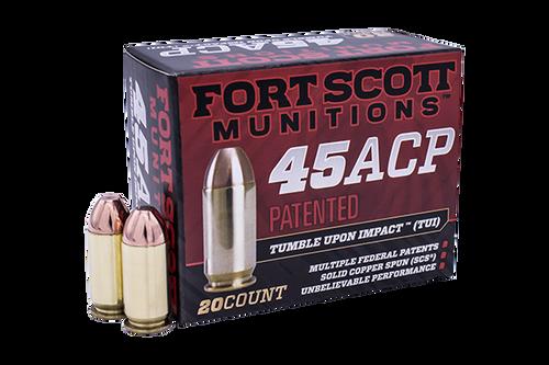 Fort Scott Munitions .45 ACP 180gr Pistol Ammunition 20 Rounds
