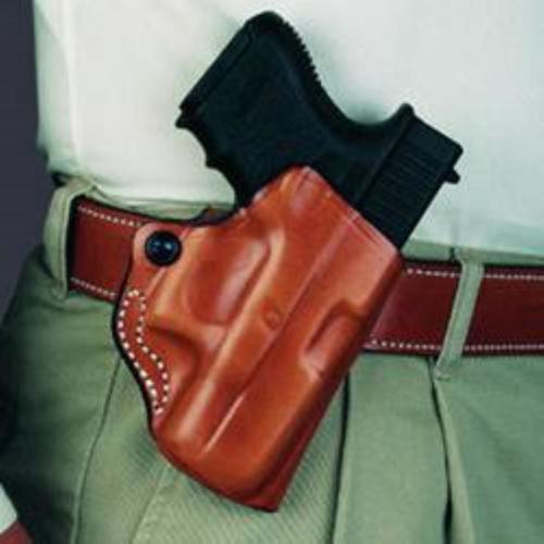 DeSantis Mini Scabbard, Sig P938 Belt Holster, Right Hand, Black Leather