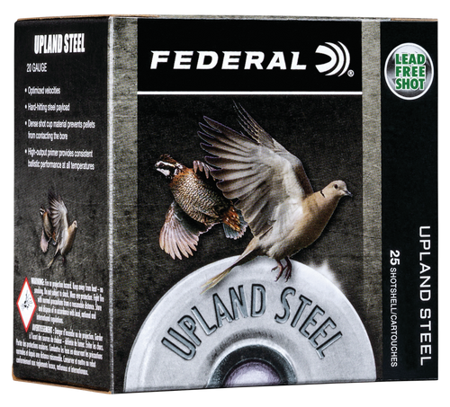 "Federal Upland Steel 28 Ga, 2.75"", 5/8oz, 6 Shot, 25rd Box"