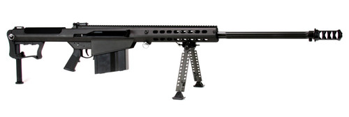 "Barrett M107A1 50 BMG, 29"" Barrel, Black, Cerakote Finish, Synthetic Stock, Flip Sights, 10Rd Mag, Bipod, Pelican Hard Case"