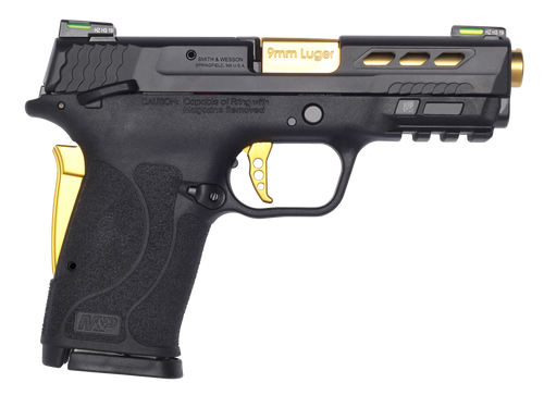 "Smith & Wesson Performance Center Shield EZ, Compact, 9mm, 3.8"" Ported Barrel, Grip Safety,Hi-Viz Litewave Sights"