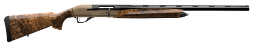 "Retay Masai Mara Upland Inertia Plus 12 Ga, 28"" Barrel, 3"", Bronze Pure Cerakote Receiver Oiled Turkish Walnut Fixed Swivel Studs Stock , 4rd"