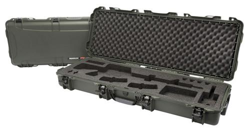 "NANUK 990 AR-15 Case with Foam Olive Polyethylene 47.10"" L x 17.30"" W x 6.60"" H"