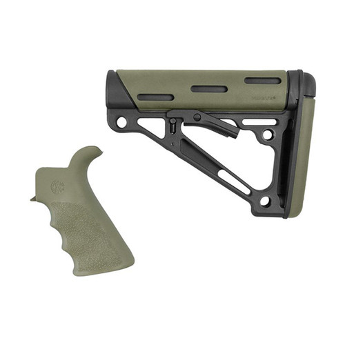 Hogue - AR-15/M16 Kit - Grip & Collapsible Mil-Spec Buttstock & Buffer Tube OD Green