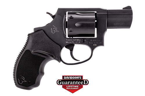 "Taurus 856, Revolver, Small Frame, 38 Special, 2"" Barrel, Steel Frame, Black, Rubber Grips, Fixed Sights, 6Rd"