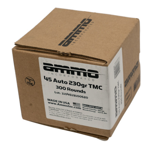 Ammo Inc .45 ACP, 230gr, TMC, Loose Pack, 300rd