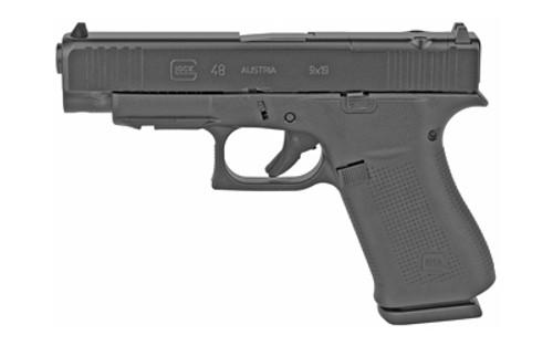 "Glock G48 MOS Compact 9mm, 4.17"" Glock Marksman Barrel, Fixed Sights, Black, 10rd"