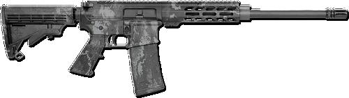 """Rock River Arms RRAGE AR-15 223/5.56 16"""" Barrel, Veil Tac-Black Camo, 30rd Mag"""