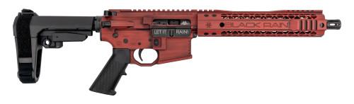 "Black Rain Ordnance Fallout AR-15 Pistol, .223/5.56, 10.5"" Barrel, SBA3 Brace, Red, 30rd"