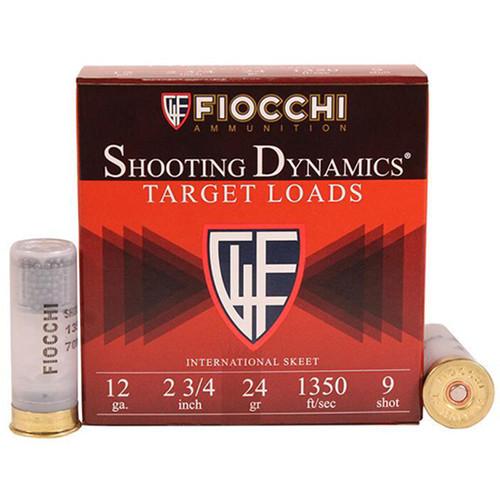 "Fiocchi Shooting Dynamics 12 Ga, 2-3/4"", 25rd Box"