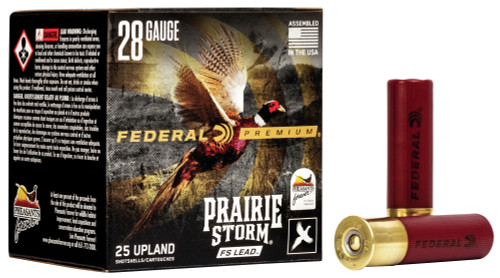 "Federal Prairie Storm FS Lead 28 Ga, 2.75"", 13/16 Oz, 6 shot, 25rd Box"