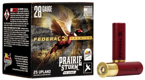 """Federal Prairie Storm FS Lead 28 Ga, 2.75"""", 13/16 Oz, 6 shot, 25rd Box"""