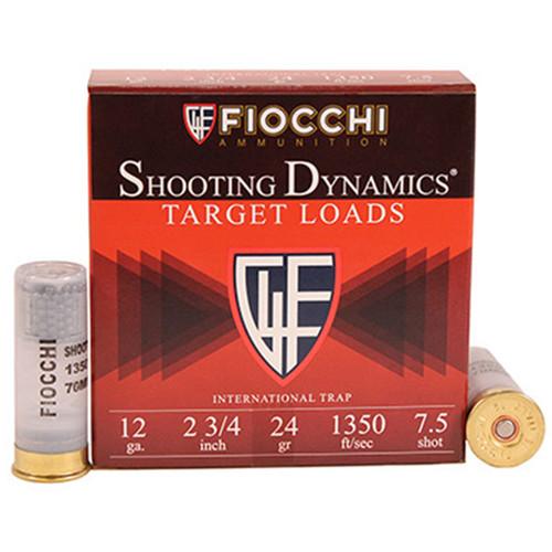 "Fiocchi Shooting Dynamics 12 Ga, 2 3/4"", 7.5, 25rd Box"