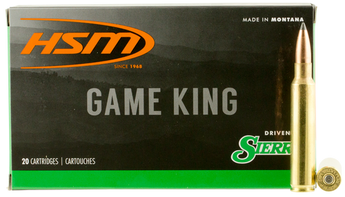 HSM Game King 358 Winchester 225gr, Spitzer Boat Tail, 20rd Box