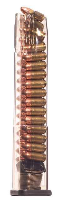 ETS Smith & Wesson M&P Extended Magazine 9mm, Clear, 30rd