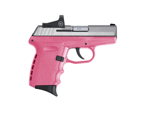 "SCCY Industries CPX-2 RD 9mm 3.10"" 10+1 Stainless Steel Slide Pink Polymer Grip NMS CTS-1500 Red Dot"