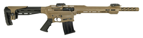 "Citadel Boss-25 12 Ga, 18.75"" Barrel, Flip-Up Sights, Mag Fed, FDE, 5rd"