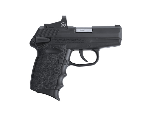 """SCCY Industries CPX-1 RD 9mm 3.10"""" 10+1 Black Nitride Stainless Steel Slide Crimson Red Polymer Grip CTS-1500 Red Dot"""
