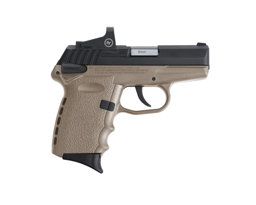 "SCCY Industries CPX-1 RD 9mm 3.10"" 10+1 Black Nitride Stainless Steel Slide Flat Dark Earth Polymer Grip CTS-1500 Red Dot"
