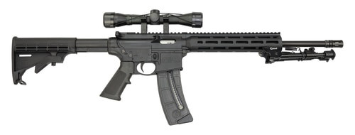 "Smith & Wesson M&P15-22 Sport II Package 22 LR, 16.5"" Barrel, 4X32 Scope, Caldwell XLA Bipod, M-Lok, 25rd Mag"