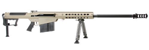 "Barrett M107A1 50 BMG, 29"" Barrel, Flat Dark Earth Cerakote Finish, Synthetic Stock, Front/Rear Flip Sights, 10Rd, 1 Magazine, Bipod, Pelican Hard Case"