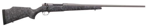"Weatherby Mark V Weathermark 338-378 Weatherby Mag, 26"" Barrel, Tac Gray Cerakote, Black Gray Webbing, Fixed Monte Carlo Stock, 2rd"