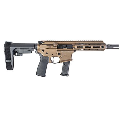 """Christensen Arms CA 9mm Pistol AR-15  Bronze 7.5"""" Barrel M-Lok"""