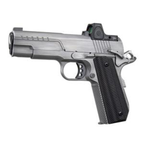 "Ed Brown FX2 45 ACP 4.25"" 7rd Stainless Steel Slide Black G10 Grip with Trijicon RMRcc Sight"
