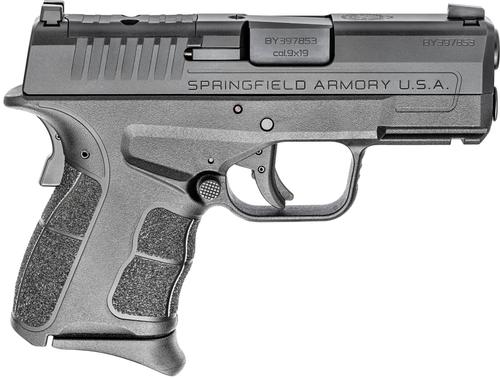 "Springfield XDS-Mod.2 OSP (Optical Sight Pistol), Semi-automatic, Striker Fired, Sub-Compact, 9mm, 3.3"" Barrel, Black Color, Polymer Frame, Optics Ready, 3 Dot Sights, 9Rd, 2 Magazines, 1-7Rd, 1-9Rd"