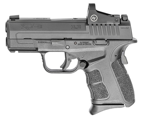 """Springfield XD-S CT Mod 2 OSP 9mm 3.30""""  Black Melonite with CT Red Dot, 9&,7rd Mag"""