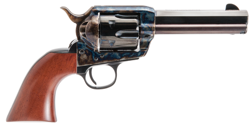 "Cimarron El Malo Pre-War 1896-1940 38 Special-357 Mag, 4.75"" Barrel, Blued, Color Case Hardened, Walnut, 6rd"