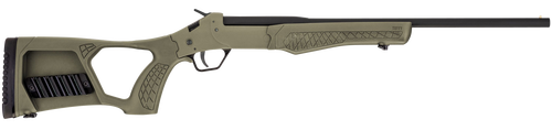 "Rossi Tuffy Youth 410 Ga, 18.5"" Barrel, Matte Black, Olive Drab Green, Fixed Thumbhole Stock, 1rd"