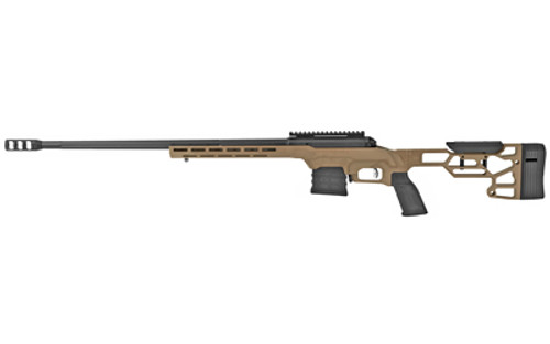 "Savage 110 Precision 300 PRC, 24"" Barrel, Matte Black, Flat Dark Earth, Cerakote Chassis Stock, 5rd"