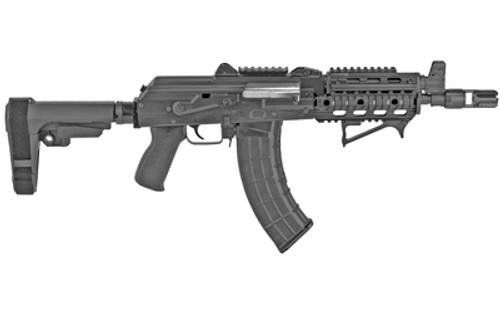 """Zastava ZPAP92 7.62X39mm Pistol, 10"""" Barrel, SBA3, Quad Rail, Black, 30rd"""
