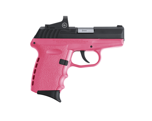 "SCCY Industries CPX-2 RD 9mm 3.10"" 10+1 Black Nitride Stainless Steel Slide Pink Polymer Grip NMS CTS-1500 Red Dot"