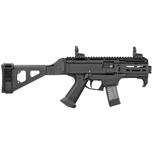"CZ Scorpion EVO 3 S2 9mm, 4"" Barrel, SB Folding Stock, MBUS Rear, Black, 10rd"