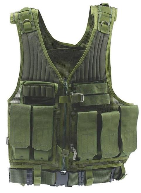 Drago Gear First Strike Vest, Tactical Green, Mesh Net