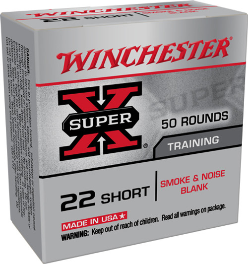 Winchester Super-X Blanks 22 Short, Not Ammo, 50rd Box