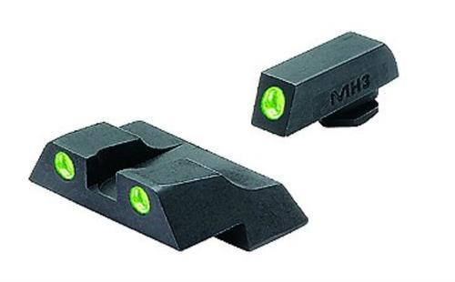 Meprolight Tru-Dot NS Fixed Set For Glock 26/27 Tritium Green Front/Rear