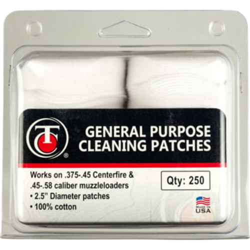 "Thompson Center  Cleaning Patches, 2.5"" Diameter, 250 Qty"