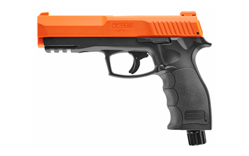 "RWS/Umarex T4E HDP50, Pepper Ball Air Pistol, .50 Cal, 4"" Barrel, Black and Orange Color, 6Rd, W/10 Pepper and 10 Rubber Balls"